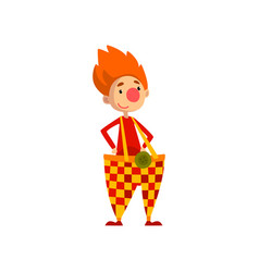 cute funny clown cartoon character vector image