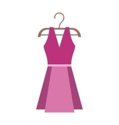 Dress on a Wooden Hanger vector