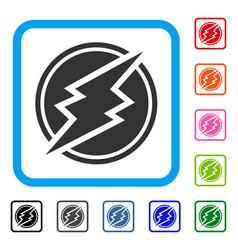 Electroneum framed icon vector