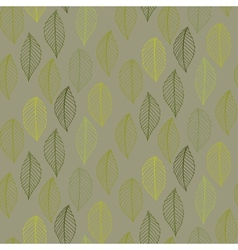 Elegant pattern with leafs drawn in thin lines vector