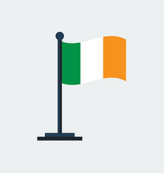 flag of irelandflag stand vector image