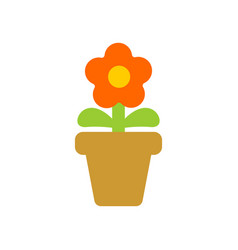 flower in pot isolated homemade plant of red vector image