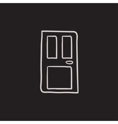 Front door sketch icon vector image