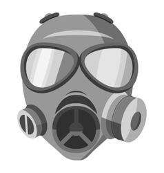 Gas mask icon gray monochrome style vector image