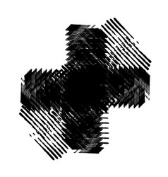 grunge isolated cross vector image