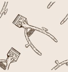 Hair clipper seamless pattern engraving vector