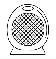 Home air heater fan icon outline style vector