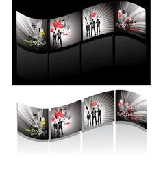 Illustrated filmstrips vector