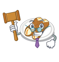 judge cannoli in a cartoon shape vector image