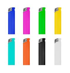 lighter lighter on white backg vector image