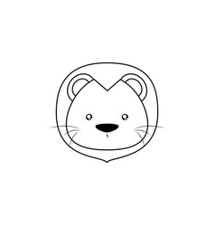 lion drawing face vector image