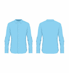 Mens blue dress shirt vector