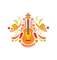 mexican pattern traditional symbols mexico vector image