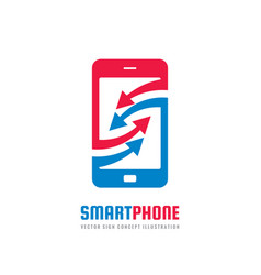 mobile phone business logo concept vector image