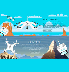 modern air drones for card and remote control vector image