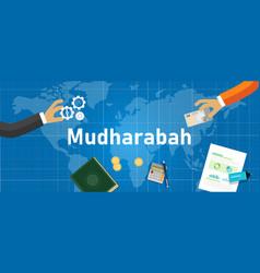 Mudharabah or mudarabah way doing conduct vector