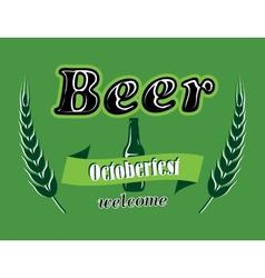 Oktoberfest beer banner vector