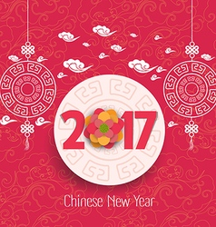 Oriental Chinese New Year 2017 blossom background vector