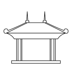 Pagoda pavilion icon outline style vector