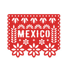 Papel picado mexican paper decorations for party vector