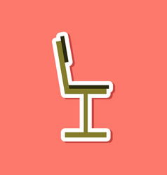 Paper sticker on stylish background chair vector