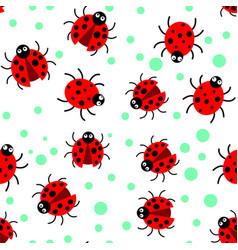 pattern ladybug vector image