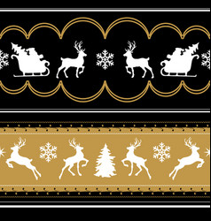 patterns with reindeers vector image