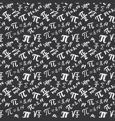 Pi symbol seamless pattern hand drawn sketched vector