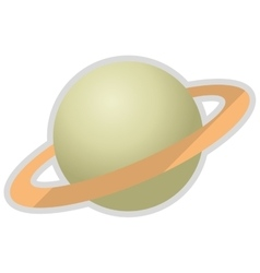 Planet saturn icon vector