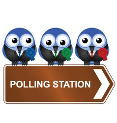 POLLING STATION SIGN vector image