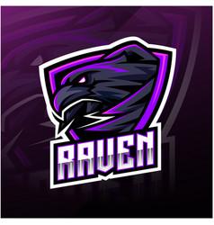 raven sport mascot logo design vector image