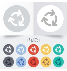 Recycling sign icon Reuse or reduce symbol vector image