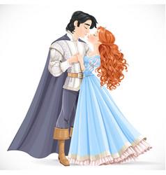 romantic scene a fabulous brunette prince vector image