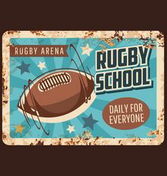 rugschool rusty metal plate sport game vector image
