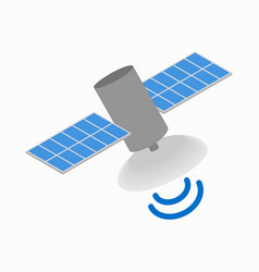 Satellite communications icon isometric 3d style vector