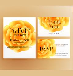 save date wedding invitation template design vector image