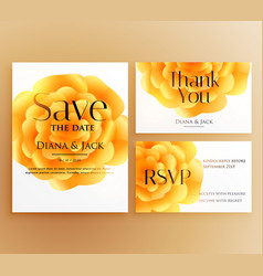 save the date wedding invitation template design vector image
