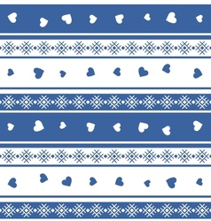 Seamless jacquard knit valentine EPS 8 vector