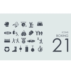 Set of boxing icons vector