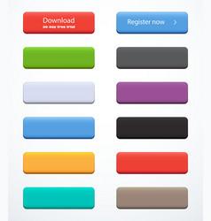 Set rectangle buttons vector