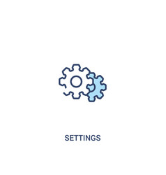 Settings concept 2 colored icon simple line vector