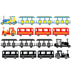 sightseeing trains vector image