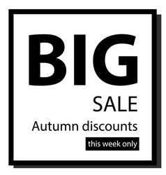 sign on resale on a black and white background vector image