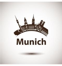 silhouette of Munich City skyline vector image