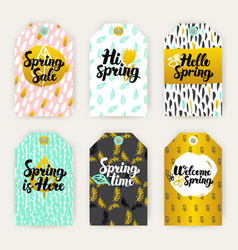 spring time gift labels vector image vector image