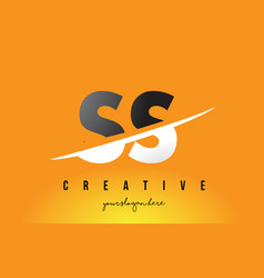 Ss s s letter modern logo design with yellow vector