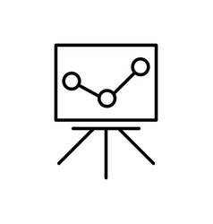statistics monitoring icon vector image