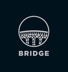 Stone bridge logo vector