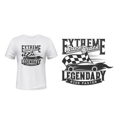 t-shirt print fast ride car racing sport rally vector image