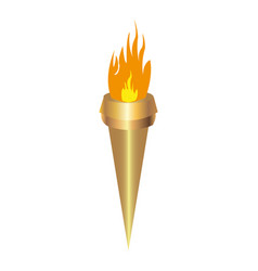 Torch on white background vector